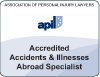 Accidents and illnesses abroad lawyer
